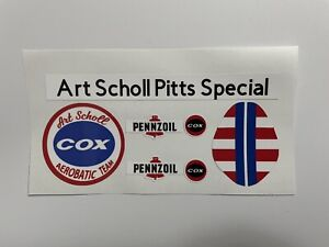 Cox Thimble-Drome Mini Stunt Art Scholl Pitts Special Airplane Stickers