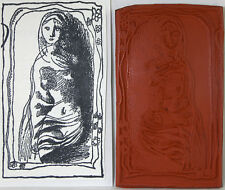 Unmounted Rubber Stamp Drawing of Nude Woman 4.5 x 2.5 inches