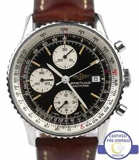Breitling Old Navitimer Chronograph Black 42mm Automatic 81610 Stainless Watch