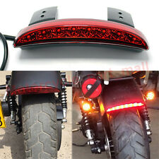 Universal Motorcycle Bike 8 LED Stop Brake License Plate Rear Tail Light Red Len