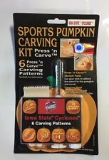Iowa State Cyclones Halloween Pumpkin Carving Kit NEW 6 patterns jack-o-latern