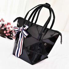 Womens Geometric Deformable Handbag Top-handle  Folding Purse Shoulder Bag New