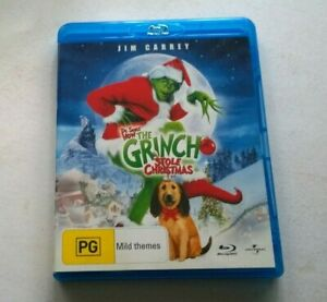 LIKE NEW HOW THE GRINCH STOLE CHRISTMAS  BLU RAY AUSTRALIAN RELEASE FREE POSTAGE