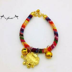 Dog Pet Puppy Luckly Collar Cat Neck with Bell Adjustable Collar Safety Rope YI