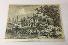 1886 magazine engraving ~ SARAH SIDDONS'S COTTAGE, England