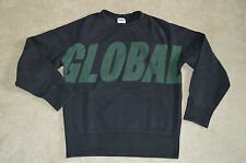 Acne Studios College Global Black/Green Jumper Sweater Crew Knit Mens Small S