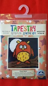 Tapestry, sewing starter kit by DMC Gobelin. 'OWLS HOOT'. Ideal present 6yrs+.
