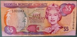 BERMUDA 5 DOLLARS  NOTE ISSUED 24.05. 2000, P 51  , QUEEN