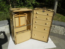 Antique Vintage '20s-'30s Victor Wardrobe Steamer Trunk, Made In Great Britain