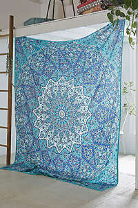 5 PC LOT Indian Star Mandala Bedding Wall Hanging Tapestry Cotton Bedspread Art