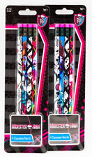 Brand NEW Monster High 4 Pack Pencils x 2 School Supplies Stationery Set Ghouls