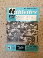 Vintage Athletics Weekly magazine 9 March 1974 - MONTREAL OLYMPIC TIMETABLE
