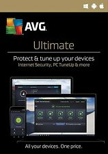 AVG ULTIMATE 2017 - UNLIMITED DEVICES - WINDOWS, MAC ANDROID - DOWNLOAD