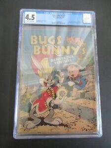 FOUR COLOR - BUGS BUNNY DANGEROUS #123 1ST ED CGC GRADED 4.5 COMIC -- OCT 1946