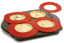 Silicone Mini Pie Crust Shields - 4 PC Set
