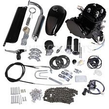 Black 80cc 2-Stroke Cycle Motor Engine Kit Gas for Motorized Bicycle Bike