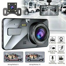"4"" 1080P 170° DVR Recorder Dash Cam FHD Front and Rear Car Dashboard Camera"