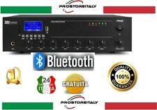 AMPLIFICATORE AUDIO 100 WATT 8 OHM FILODIFFUSIONE BLUETOOTH+USB+DISPLAY