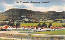 THE VERMONTER Bennington, Vermont Roadside Motel 1954 Vintage Linen Postcard