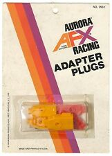 1976 Aurora NY AFX Racing HO Slot Car Track CONTROLLER ADAPTER PLUGS 2552 Carded