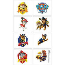 8 Paw Patrol Tattoos 1 sheet  Party Favors Teacher Supply Jake Ryder Skye