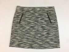 Ann Taylor Loft Mini Pencil Skirt Black And White Plus Size 14 NWT