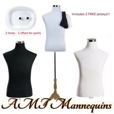 "18/38/32"" Male mannequin dressform+ stand,+2 jerseys, white/black torso-MF-102"