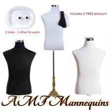 183832 Male Mannequin Dress Form Stand2 Jerseys Whiteblack Torso Mf 102