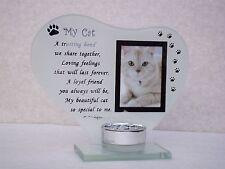 MY PUSSY CAT PICTURE PET@FELINE FRIEND CANDLE Holder@Keepsake KITTEN PHOTO FRAME