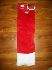 "Trim A Home Christmas Tree Skirt 56"" Holiday Red Velvet & White"