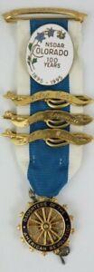 DAR Daughters of American Revolution Ribbon Pins Medal Gold Filled J.E. Caldwell