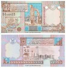 Libya 1/4 Quarter Dinar ND (2002)  P-62 Banknotes UNC