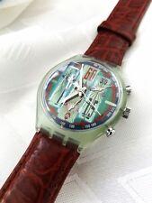 SWATCH AG 1993 Rare design Men's 22 jewels WR Calendar Quartz Watch