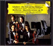 Emerson String Quartet Firmato Schubert la morte e la ragazza Beethoven DG CD