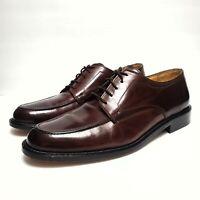 JOHNSTON & MURPHY Cellini Men's Brown Leather Lace Up Oxford Dress Shoes Sz 9.5M