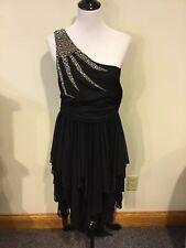 Deb Women's Juniors Black Dress Sequin Prom Cruise Classy ~ Size 1X