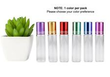 Aromatherapy Bottles Glass*5 x 10ml*Coloured Lids*S/Steel Roller*Essential Oil