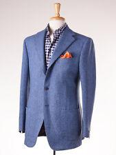 NWT $2795 SARTORIA PARTENOPEA Sky Blue Donegal Tweed Wool Sport Coat 46 R