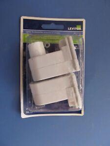 Leviton #C20-13485-00W 2 pack  Fluorescent Lampholders White  NEW