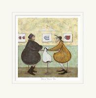 Tête à Tête à Tête - Limited Edition Print by Sam Toft