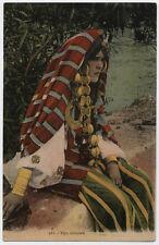 cartolina militare TIPO ORIENTALE-WOMAN