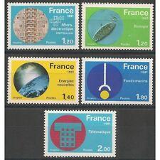 Lot  année 1981  Série Technologie n°2126 à 2130 oblitérés