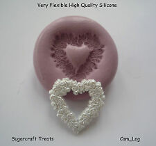 Love Heart Garland Wedding Silicone Mould,Sugarcraft, Cup Cake Card Topper, Fimo
