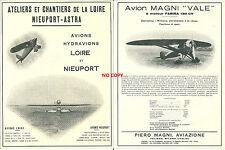 Publicité 1930 Avion MAGNI / Nieuport Astra aviation aéronautique aircraft plane