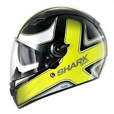 Casco shark vision-r visionr high visibility black yellow nero giallo