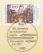 BRD 1991: Schlacht bei Liegnitz Nr. 1511 mit Bonner Sonderstempel! 1A! 1605
