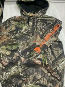 NWT New CARHARTT Mens 101763 MOSSY OAK Hunting CAMO HOODIE SWEATSHIRT Medium $60