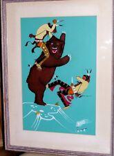 Rance Hood Signed Bear Hunt Painting ORGIONAL c-60's