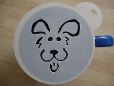 Cara de perro de cómic de corte láser café y artesanía de la plantilla