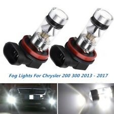 2x 100W Fog Lights For Chrysler 200 300 2010 - 2017 6000K White Cree LED Bulbs